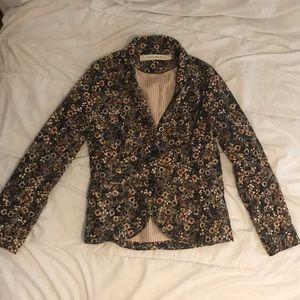 An Anthropologie floral cord blazer.